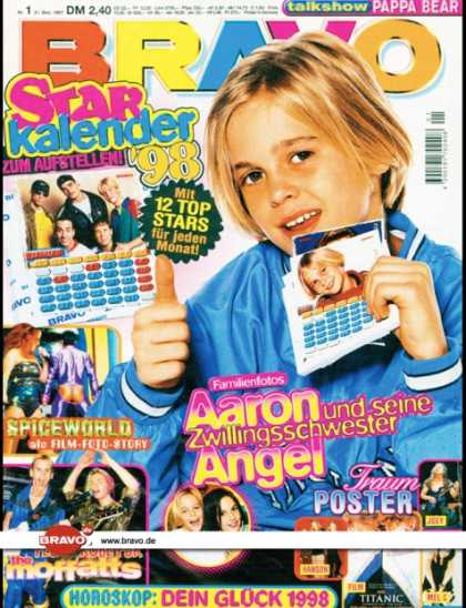 Bravo - 01/98, 31.12.1997 - Aaron Carter - Spiceworld (Film) - The Moffatts -