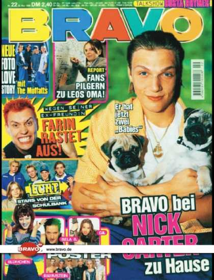 Bravo - 22/98, 28.05.1998 - Nick Carter (Backstreet Boys) - The Moffatts - Farin Urlaub