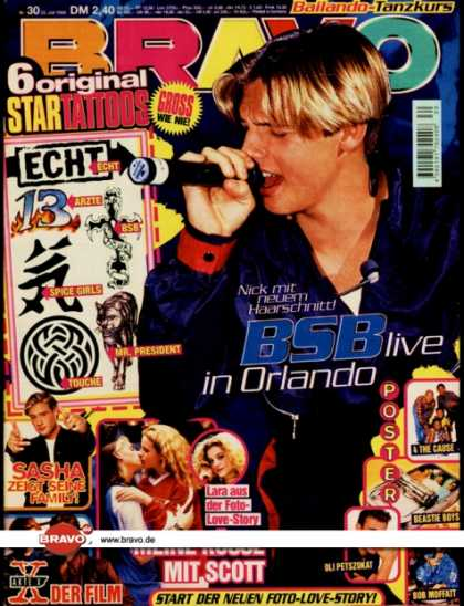 Bravo - 30/98, 23.07.1998 - Nick Carter (Backstreet Boys) - Sasha - Akte X (Film) - -