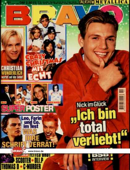 Bravo - 51/98, 16.12.1998 - Nick Carter (Backstreet Boys) - Christian Wunderlich (Verbot