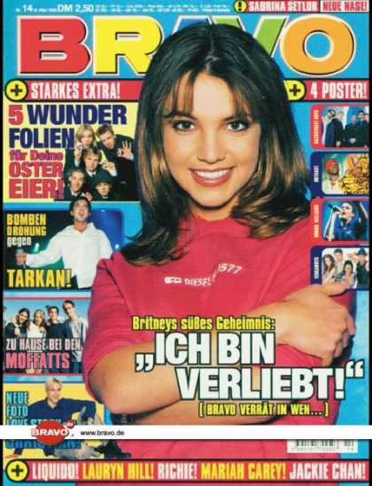 Bravo - 14/99, 31.03.1999 - Britney Spears - Tarkan - The Moffatts - Christian Wunderlic