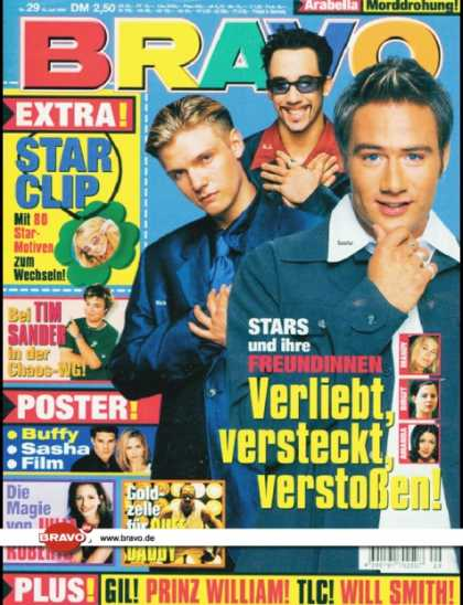 Bravo - 29/99, 15.07.1999 - Sasha, Nick Carter & A.J. McLean (Backstreet Boys) - Tim San