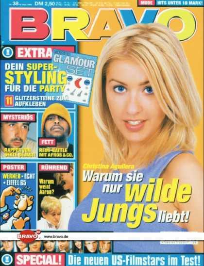 Bravo - 38/99, 16.09.1999 - Christina Aguilera - Afrob - Aaron Carter