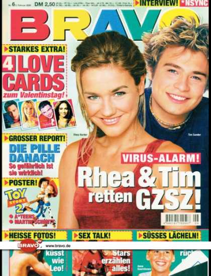 Bravo - 06/00, 02.02.2000 - Rhea Harder, Tim Sander (GZSZ, TV Serie) - Toy Story 2 (Film