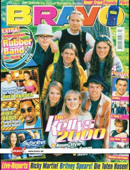 Bravo - 23/00, 30.05.2000 - Kelly Family - Rhea Harder (GZSZ, TV Serie) - Puff Daddy - V