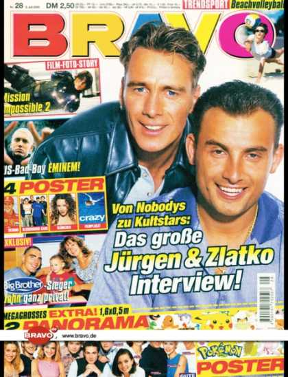 Bravo - 28/00, 05.07.2000 - Jürgen Milski, Zlatko Trpkovski (Big Brother, TV Show) -