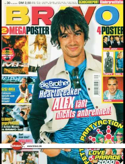 Bravo - 30/00, 19.07.2000 - Alex Jolig (Big Brother, TV Show) - Rhea Harder (GZSZ, TV S