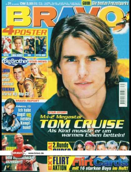 Bravo - 31/00, 26.07.2000 - Tom Cruise - John Milz, Verena Malta (Big Brother, TV Show)