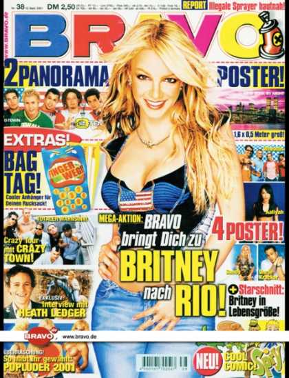 Bravo - 38/01, 12.09.2001 - Britney Spears - Crazy Town - Heath Ledger -