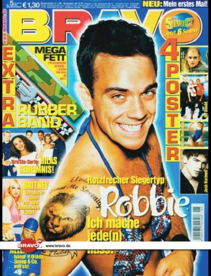 Bravo - 05/02, 23.01.2002 - Robbie Williams - Hila Bronstein (Bro'Sis) - Britney Spears