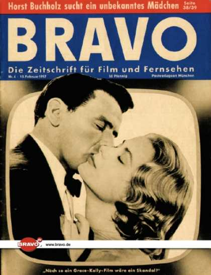 Bravo - 06/57, 05.02.1957 - Rock Hudson & Grace Kelly