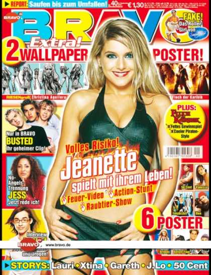 Bravo - 40/03, 24.09.2003 - Jeanette Biedermann - Busted - Jessy (Ex-No Angels) - Daniel