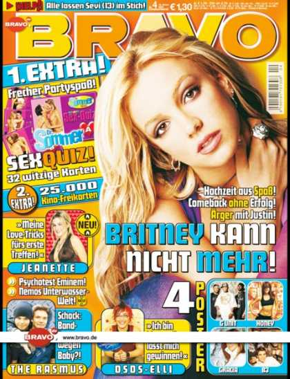 Bravo - 04/04, 14.01.2004 - Britney Spears - Jeanette Bidermann - The Rasmus - Elli Erl