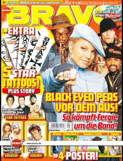 Bravo - 20/04, 05.05.2004 - Black Eyed Peas - Orlando Bloom, Christina Aguilera, Fred Du