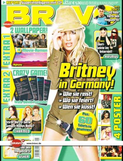 Bravo - 21/04, 12.05.2004 - Britney Spears - Daniel Radcliffe (Harry Potter, Film) - The