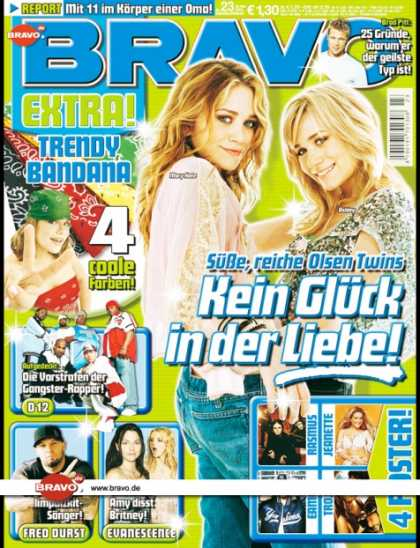 Bravo - 23/04, 26.05.2004 - Mary-Kate & Ashley Olsen - Brad Pitt - D12 - Fred Durst (Lim