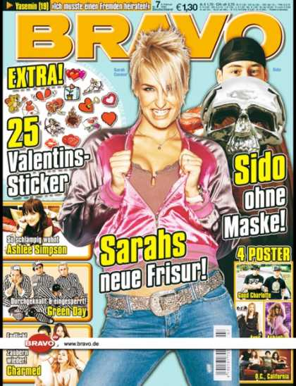 Bravo - 07/05, 09.02.2005 - Sarah Connor - Sido - Ashlee Simpson - Green Day - Charmed (