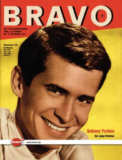 Bravo - 36/61, 29.08.1961 - Anthony Perkins