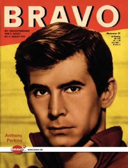 Bravo - 31/62, 31.07.1962 - Anthony Perkins