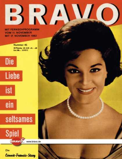 Bravo - 45/62, 06.11.1962 - Connie Francis