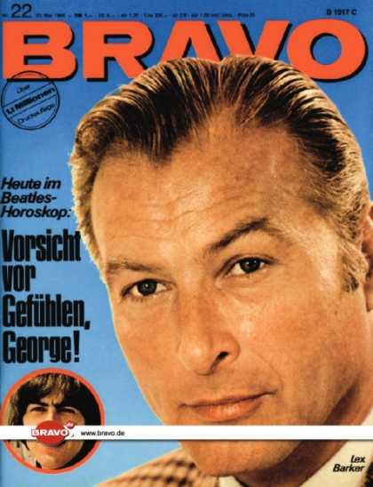 Bravo - 22/66, 23.05.1966 - Lex Barker - George Harrison (Beatles)