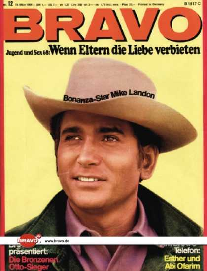 Bravo - 12/68, 18.03.1968 - Mike Landon (Bonanza, TV Serie)
