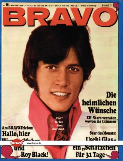Bravo - 19/68, 06.05.1968 - Barry Gibb (Bee Gees)