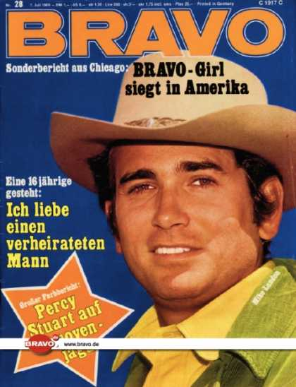 Bravo - 28/69, 07.07.1969 - Mike Landon (Bonanza, TV Serie)