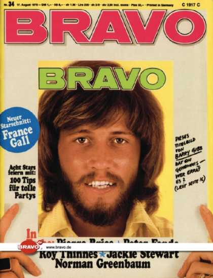 Bravo - 34/70, 17.08.1970 - Barry Gibb (Bee Gees)