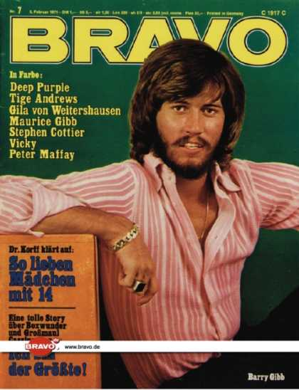 Bravo - 07/71, 08.02.1971 - Barry Gibb (Bee Gees)
