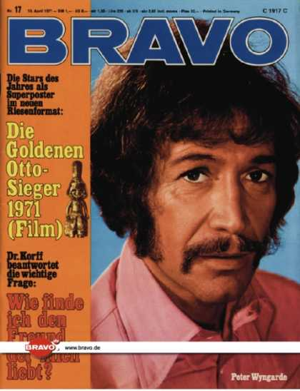 Bravo - 17/71, 19.04.1971 - Peter Wyngarde (Jason King, TV Serie)