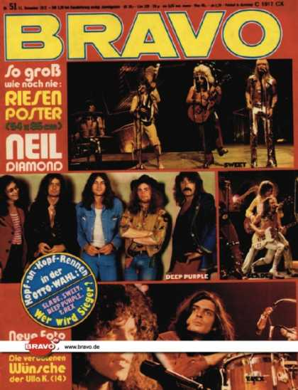 Bravo - 51/72, 13.12.1972 - Sweet, Deep Purple, Slade, T. Rex
