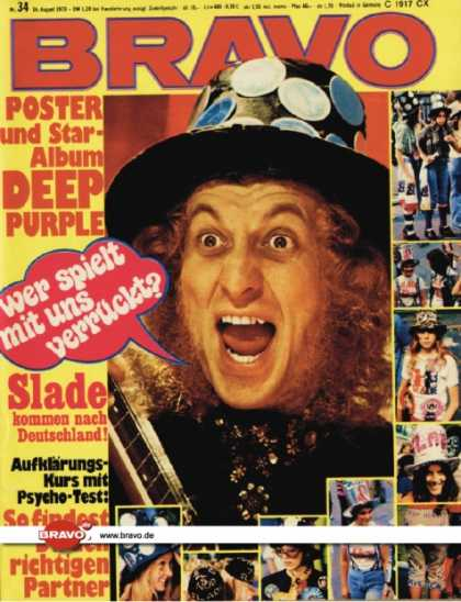 Bravo - 34/73, 16.08.1973 - Noddy Holder (Slade)
