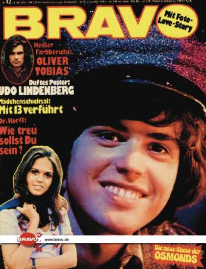 Bravo - 42/74, 10.10.1974 - Donny Osmond