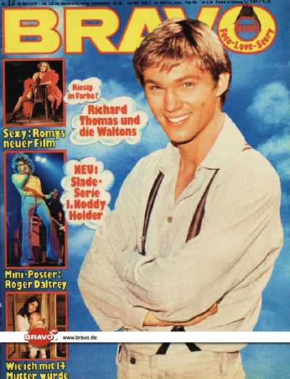 Bravo - 13/75, 20.03.1975 - Richard Thomas (Die Waltons, TV Serie)
