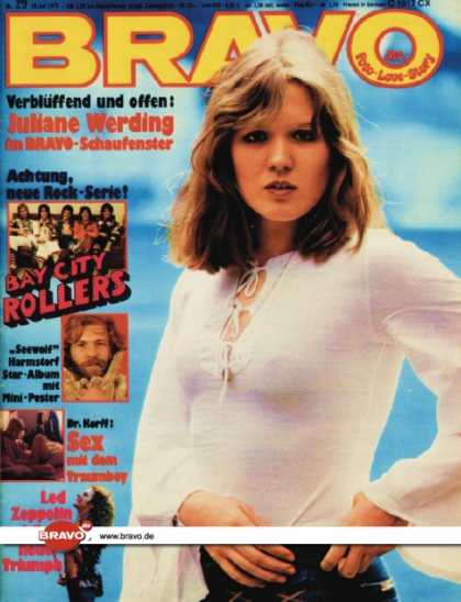 Bravo - 29/75, 10.07.1975 - Juliane Werding - Bay City Rollers - Raymund Harmstorf - Led
