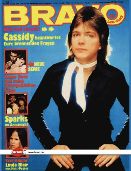 Bravo - 38/75, 11.09.1975 - David Cassidy - James Dean - Sparks - Linda Blair