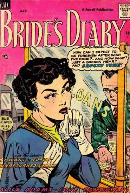Bride's Diary 4 - I Want To Forget Unreturned Kisses - Tear - Handkerchief - Blue Earring - White Gloves