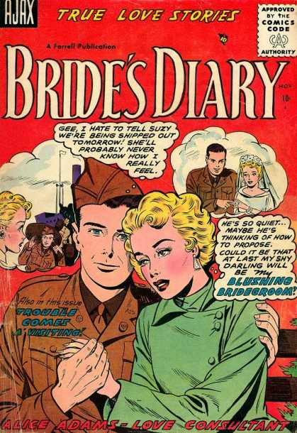 Bride's Diary 7 - Brides Diary - Wedding - Navy Man - Trouble Comes Visiting - Blushing Bridegroom