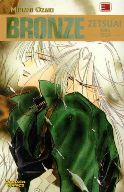 Bronze: Zetsuai Since 1989 3 - Minami Ozaki - Carlsen Comics - White Hair - Crucifix - Green Shirt