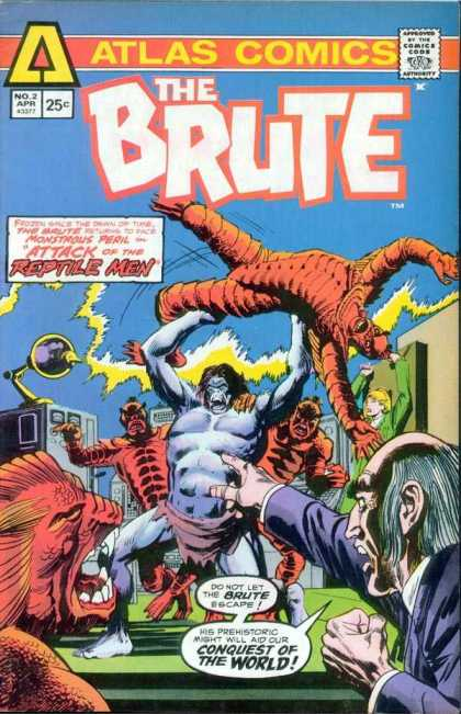 Brute 2 - Atlas Comics - Reptile Men - Conquest Of The World - No 2 - April - Dick Giordano
