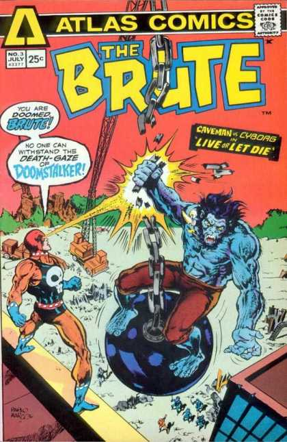Brute 3 - Atlas Comics - Atlas - The Brute - Doomstalker - Fight