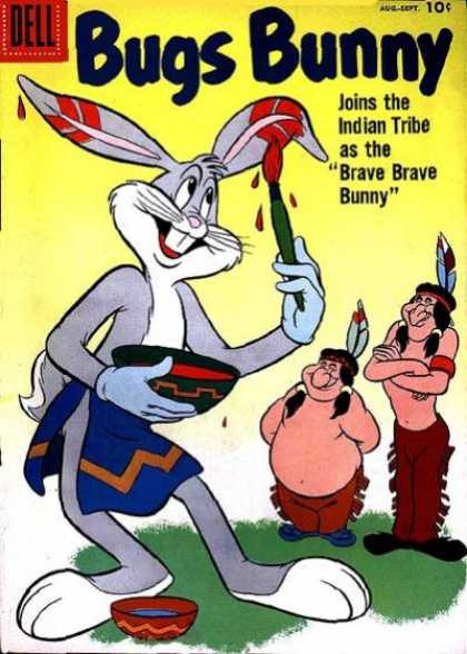 Bugs Bunny 56 - Indians - Paint - Dell - Brave Brave Bunny - Grass