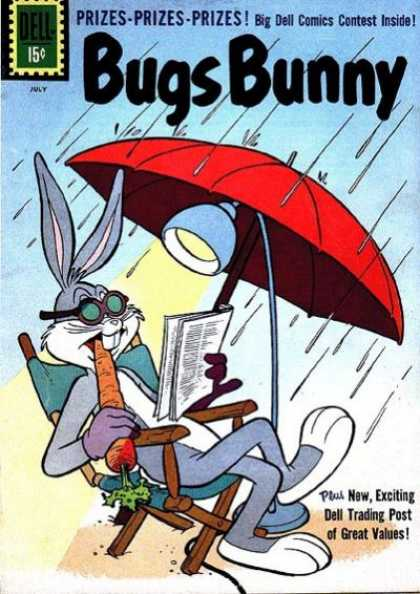 Bugs Bunny 79 - Umbrella - Carrot - Rain - Rabbit - Lamp