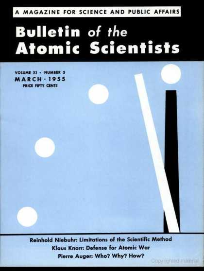 Bulletin of the Atomic Scientists - March 1955