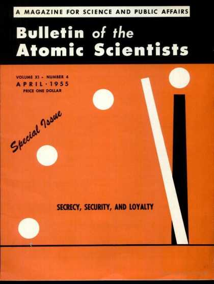 Bulletin of the Atomic Scientists - April 1955