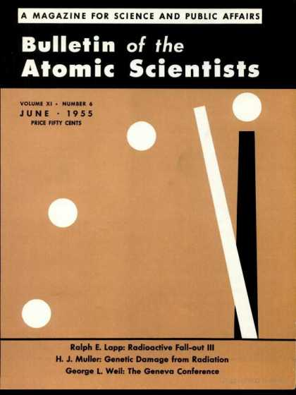 Bulletin of the Atomic Scientists - June 1955