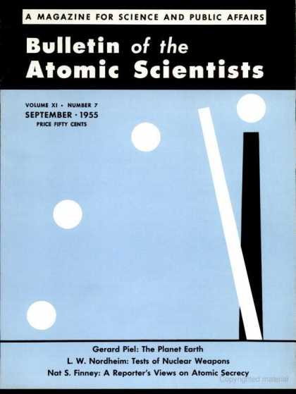 Bulletin of the Atomic Scientists - September 1955
