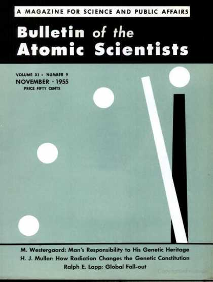 Bulletin of the Atomic Scientists - November 1955