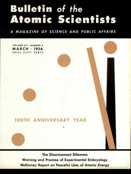 Bulletin of the Atomic Scientists - March 1956